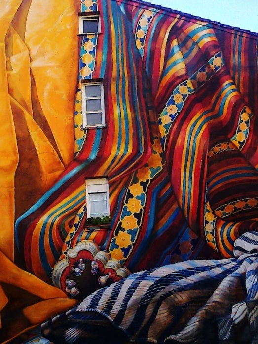 Arte callejero en España, por: Colectivo imvg